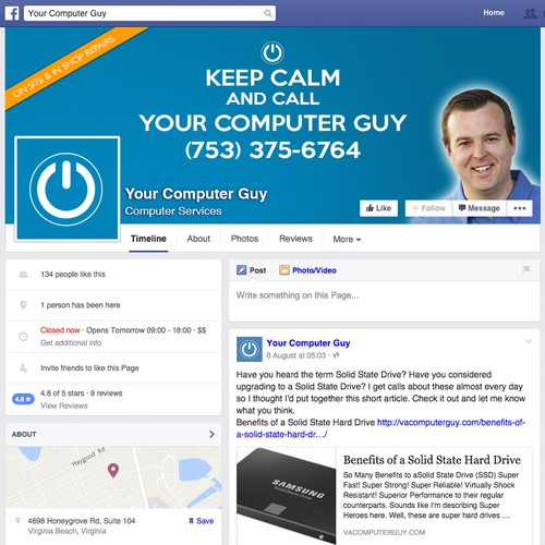 Facebook Cover for Your Computer Guy