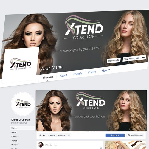 Facebook Redesign for Beauty Extensions Online shop