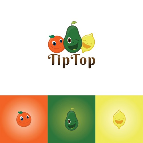Logo concept for fruit company