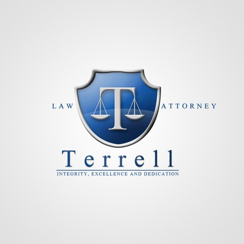 logo and business card for Terrell Law Firm, P.C.