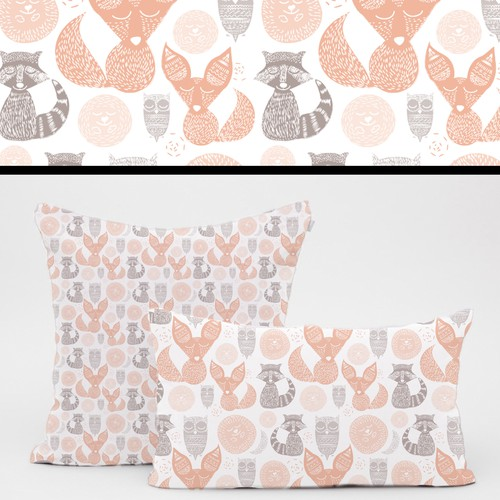 Pattern design for a kid pillow