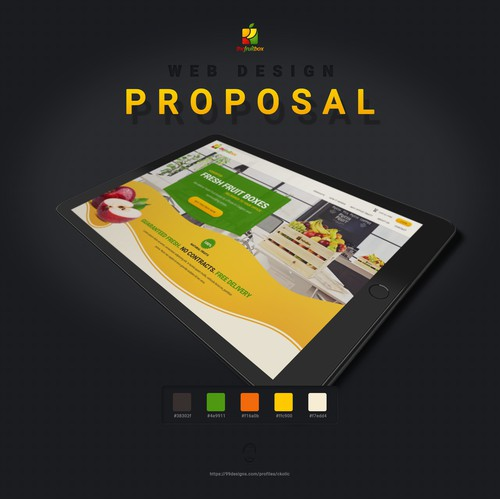 Website design for fresh fruit delivery company