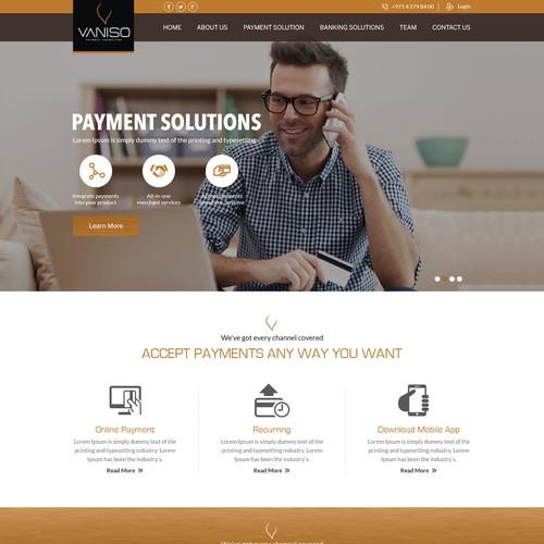 Vaniso Website Design