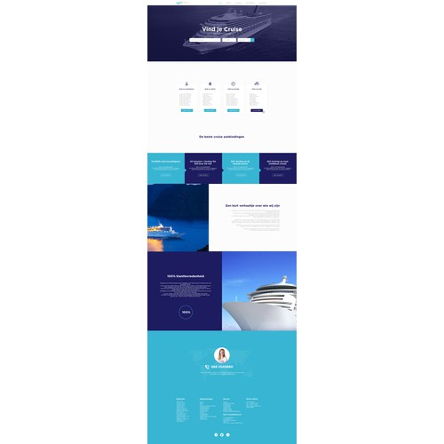 Website concept design for ,,Cruise Organization,,