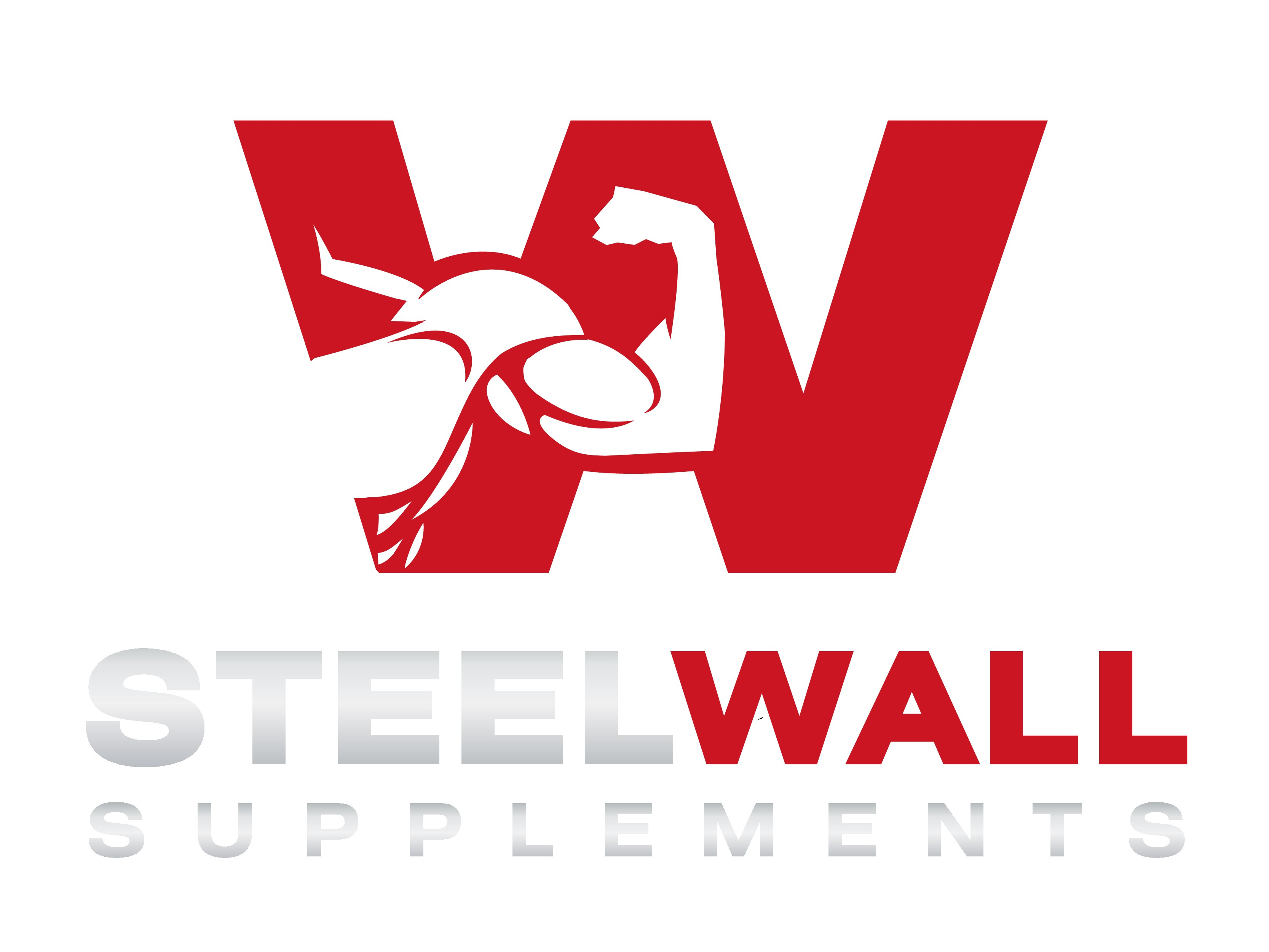 Create a striking and attractive logo for Steel Wall Supplements