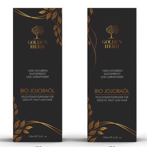 Box for Jojoba Oil