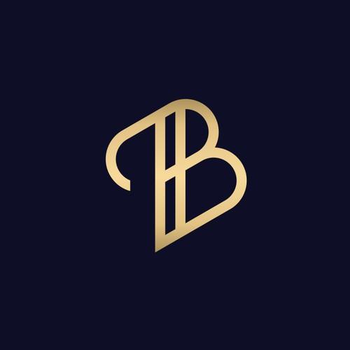 Monogram of letter B Blue Door