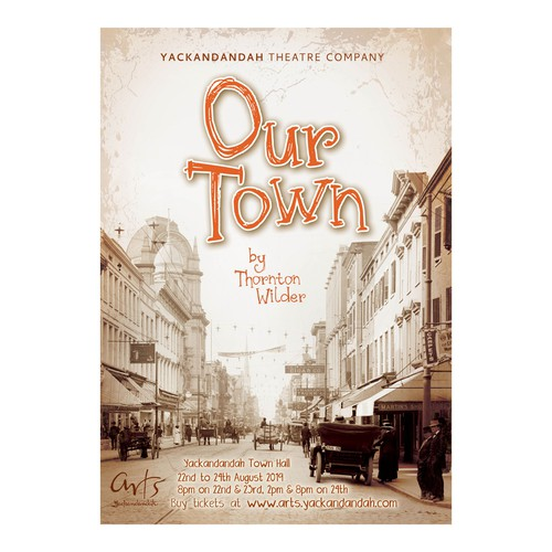 Our Town stage play poster