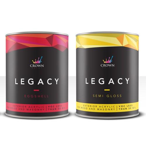 Crown Legacy paint labels