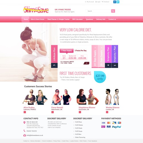 Help Slim & Save Ltd with a new website design