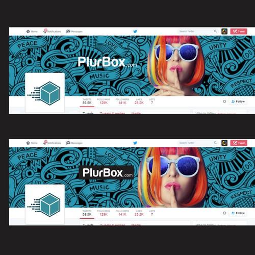 Plurbox Twitter Cover Design