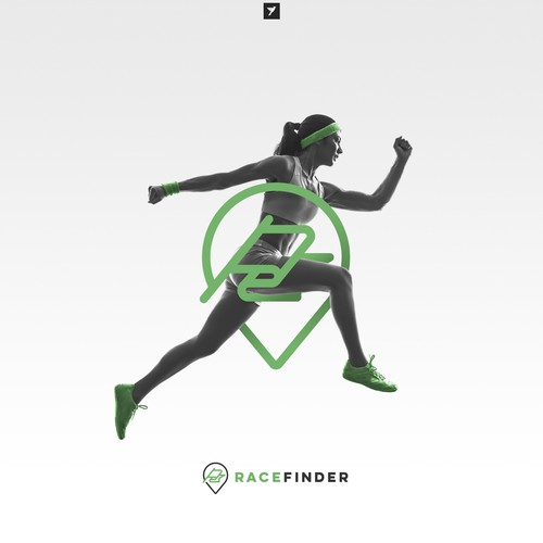 Modern logo for Race Finder app