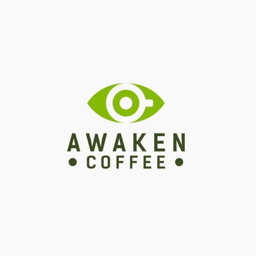 Awaken Coffee Logo Design