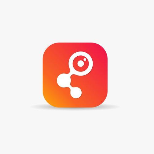 Photo sharer app icon concept