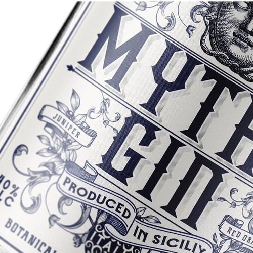 LABEL GIN FROM SICILY