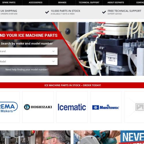Design a banner for spare parts website