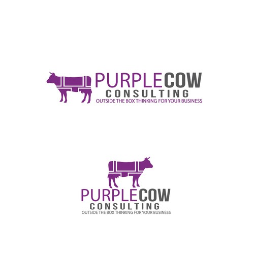 Need Profesional logo with a burst of fun - Purple Cow Consulting
