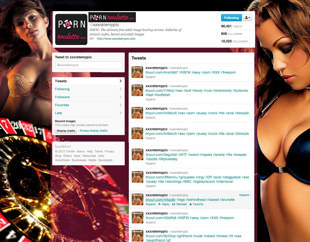 Porn Roulette needs a new twitter background