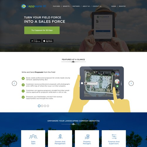 Web Design for App