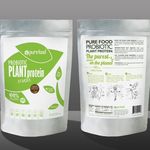 Guaranteed Winner! - Design a Simple, Typography-driven Product Label for Our Healthy Protein Powder