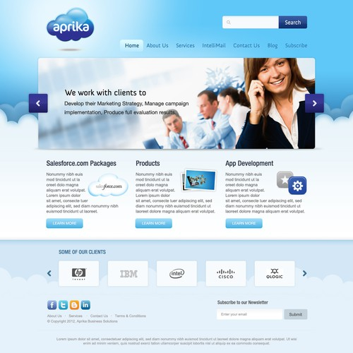 Create the next website design for Aprika Business Solutions