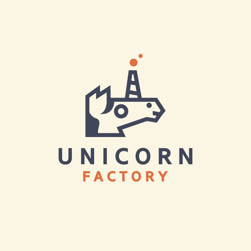 Simple and unique Logo concept for Unicorn Factory