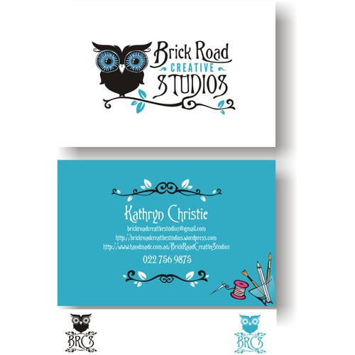 Brick Road Creative Studios logo and business card