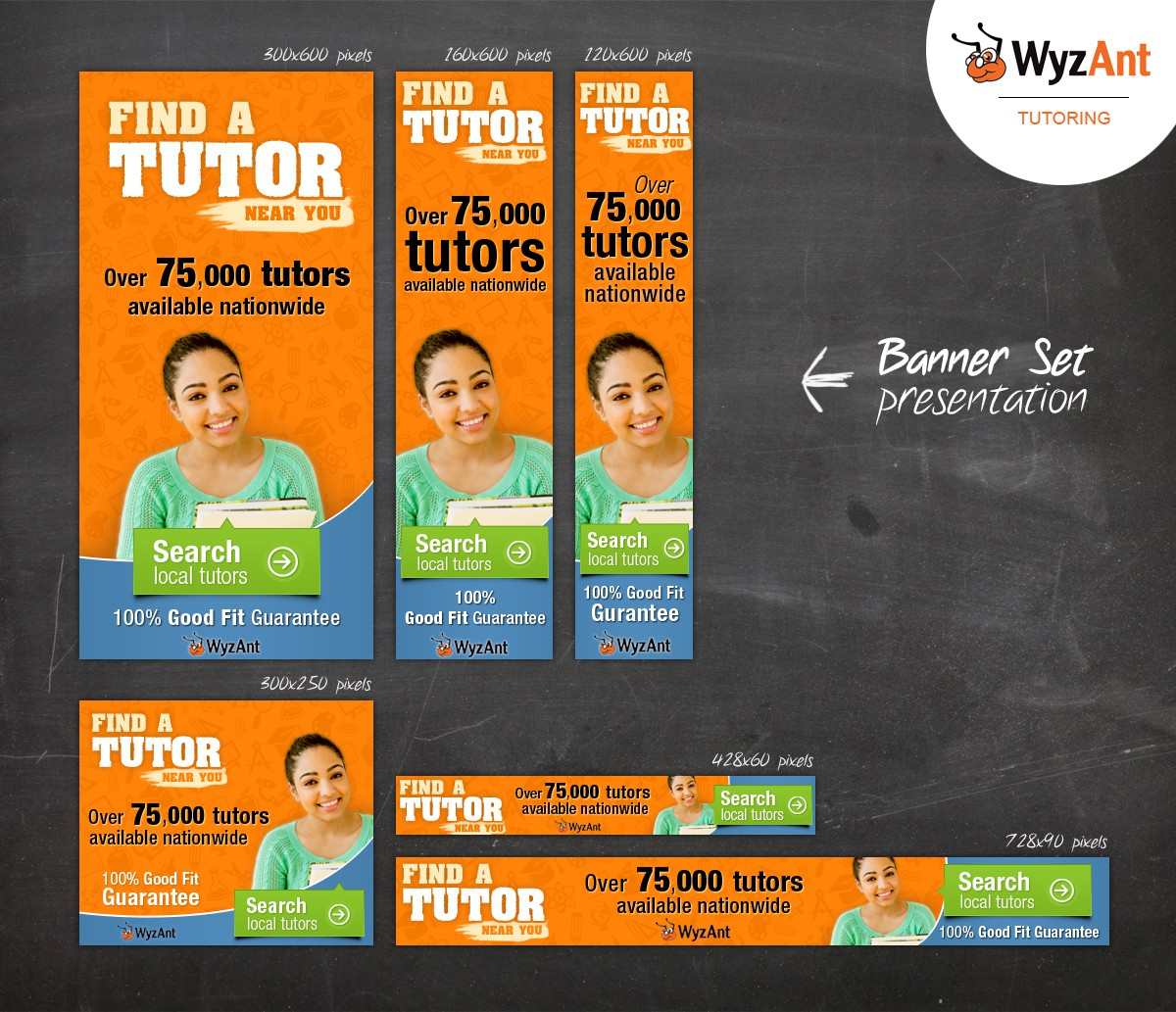 Create banner ads targeted to parents & students for WyzAnt Tutoring