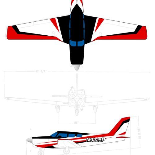 Paint scheme for Piper Comanche