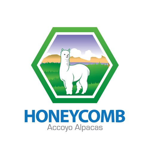 logo for Honeycomb Accoyo Alpacas