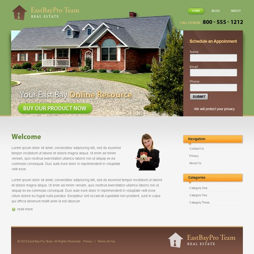 Home Page Design - Real Estate Assistance