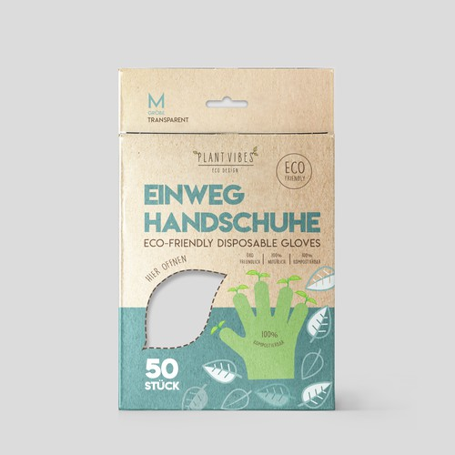 Eco friendly gloves packaging