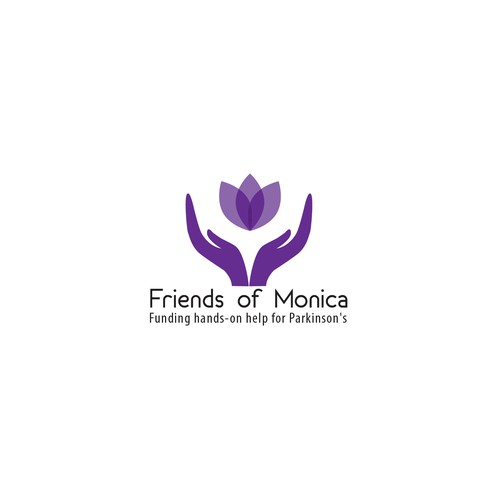 Blod and clean logo for Friend of Monica