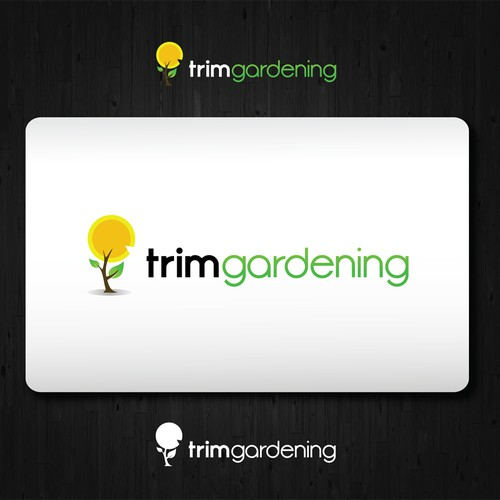 logo for TRIM GARDENING