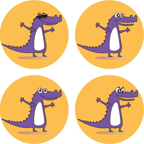 Design a playful crocodile! fun mobile app targeted towards young people...