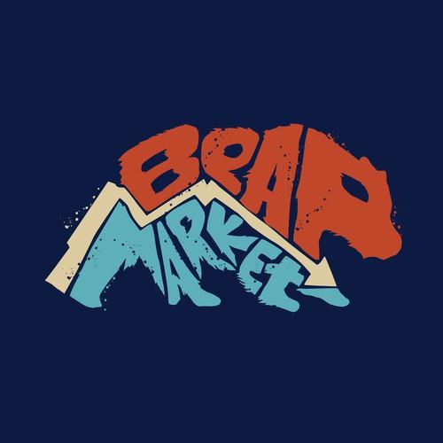 Tshirt logo design for bear market