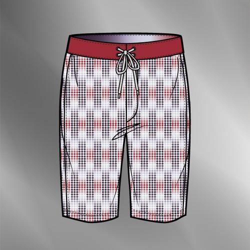 Board Shorts w/ Graphic Print