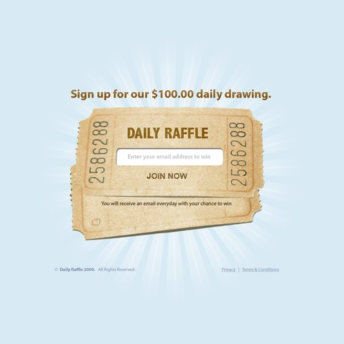 Daily Raffle Website