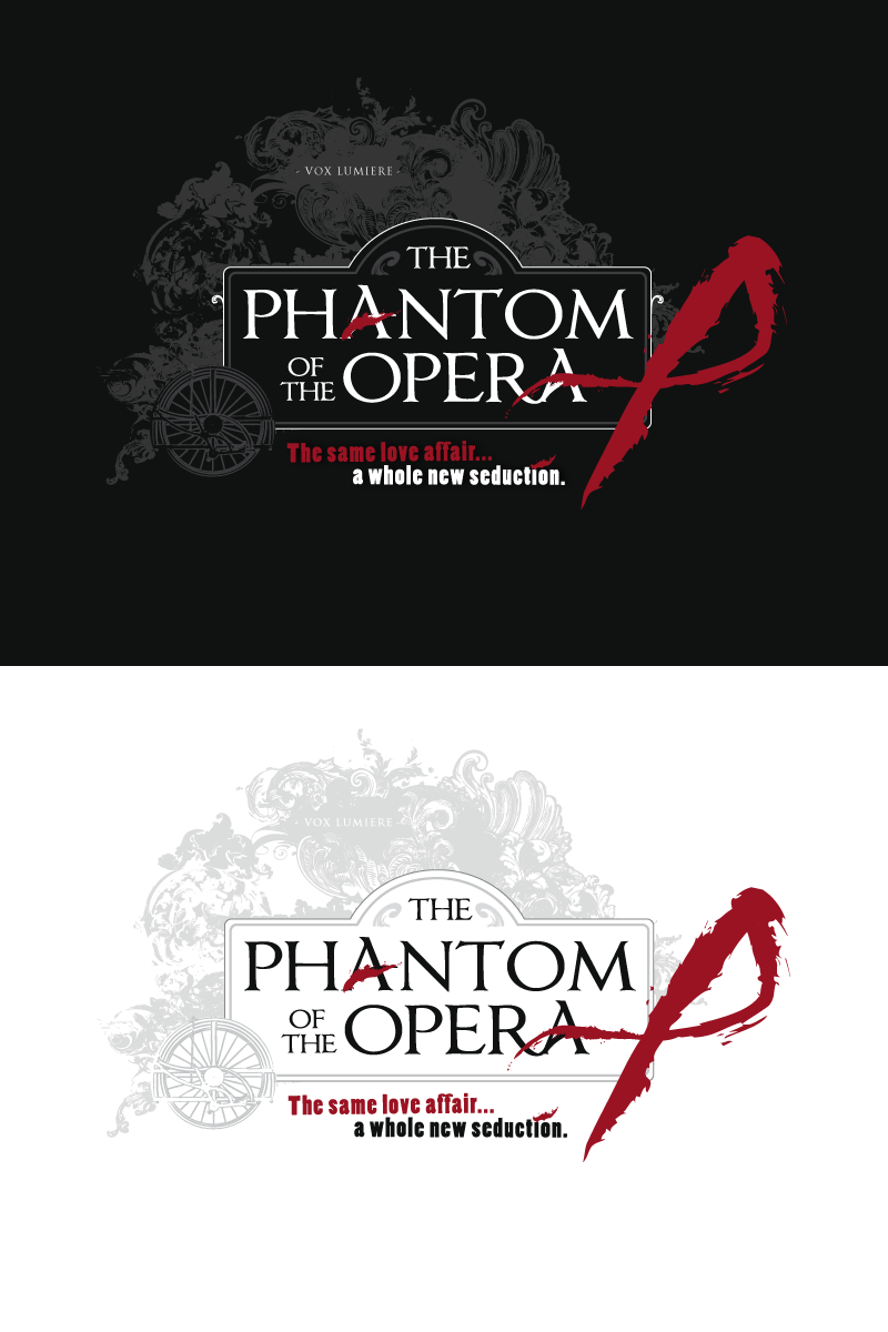 Cool, Hip, Edgy, Steampunk logo for The Phantom of the Opera