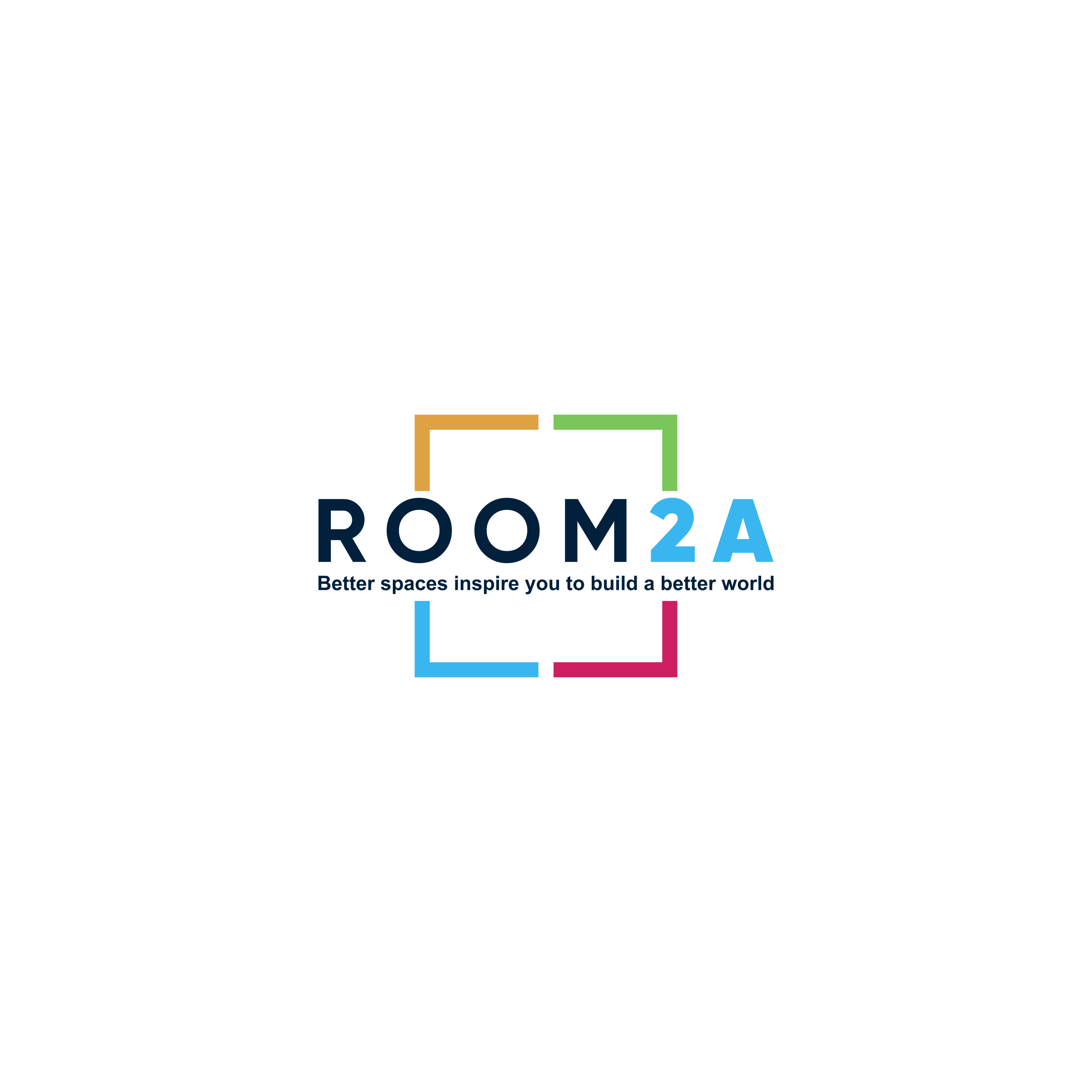 Design a logo for Room2A, an innovative space rental marketplace for nonprofits