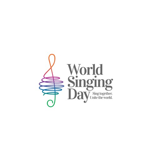 "Logo for ""World Singing Day""."