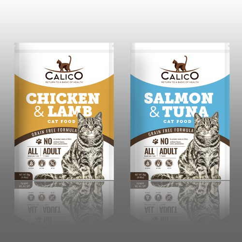 Packaging for healthy cat food