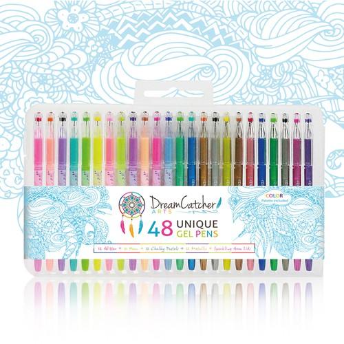 Unique packaging for a Gel Pen Set