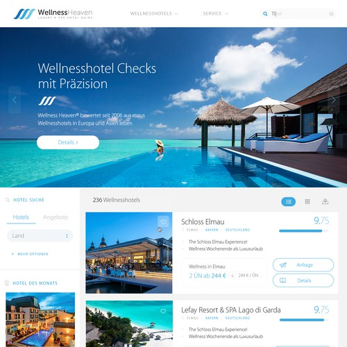 Redesign Germany's #1 Spa Hotel Portal with 2.5 million users