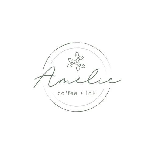 Logo for organic coffee shop / cafe