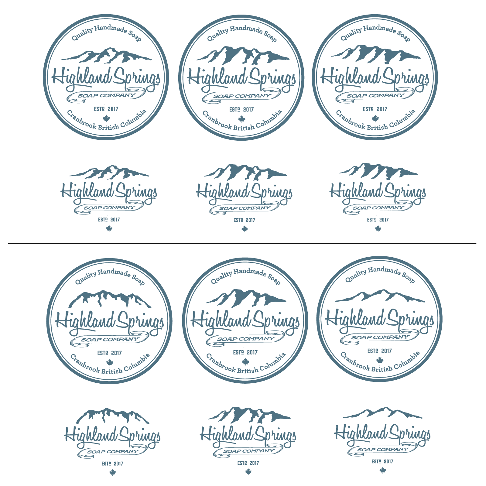 Create an upscale logo for Highland Springs Soap Company