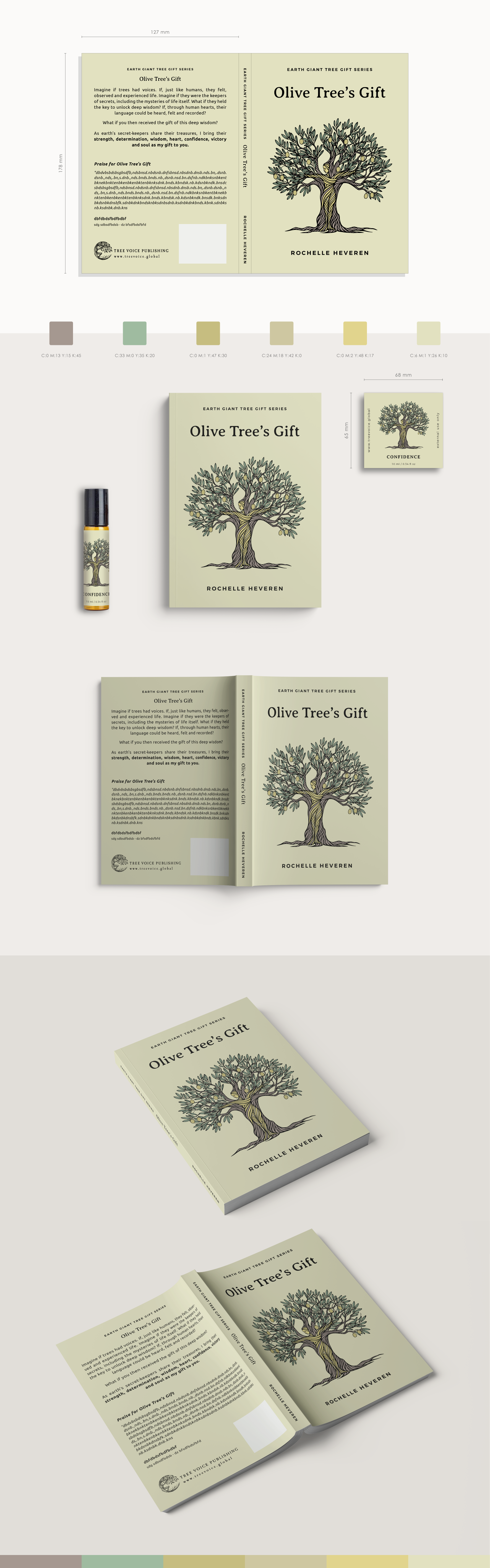 Olive Tree's Gift - Book Cover and Essential Oil Bottle Sticker