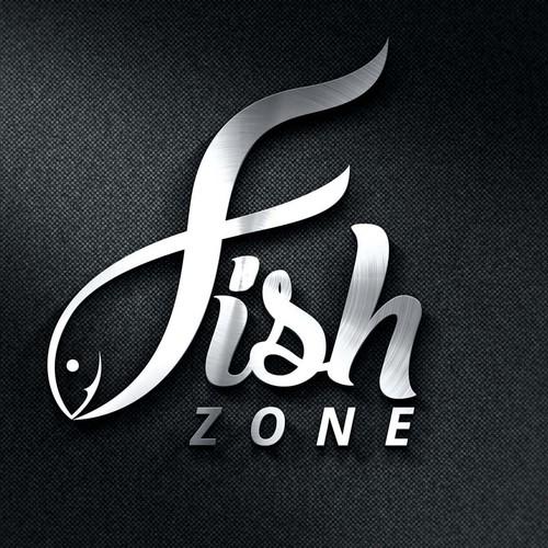 FISH ZONE - logo for fishing accessories eshop