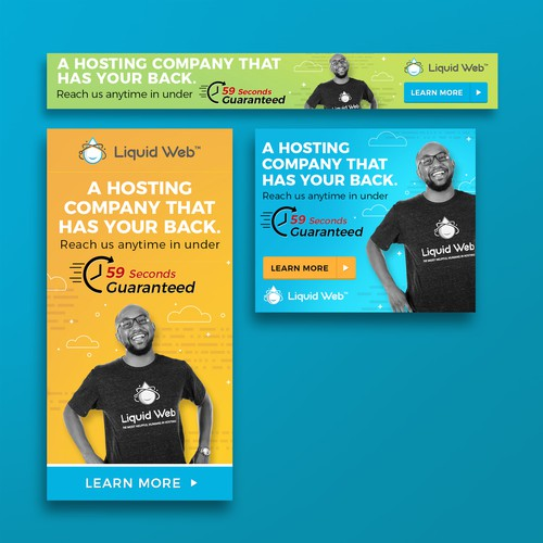 Banner ads for Managed Hosting Company