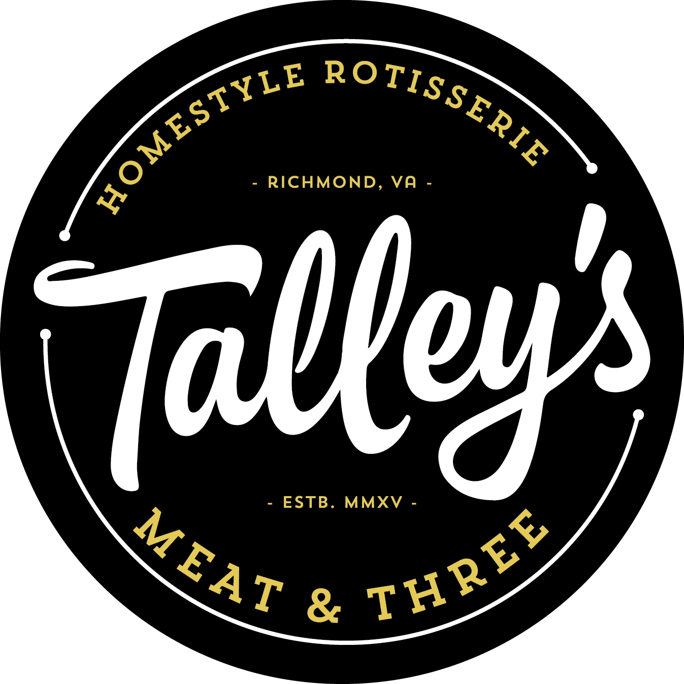 Talley's Meat And Three Restaurant Logo and Website